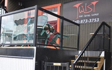 Twist Resto-Lounge and Fuego International Restaurant were the recipients of a $30,000 facade and site improvement grant in 2009 that allowed them to build their patio. - Nicole Veerman/NNSL photo