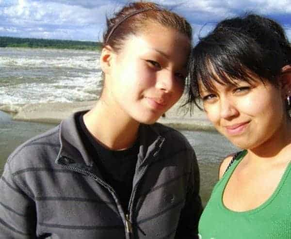 Destiny Nahanni-Hope, left, was found dead six years after her cousin, Keisha Trudel, died in a car crash. Her aunt Sharon Allen is calling for the GNWT to help the National Inquiry into Missing and Murdered Indigenous Women and Girls with supports for family members who want to share their stories. Photo courtesy of Sharon Allen.