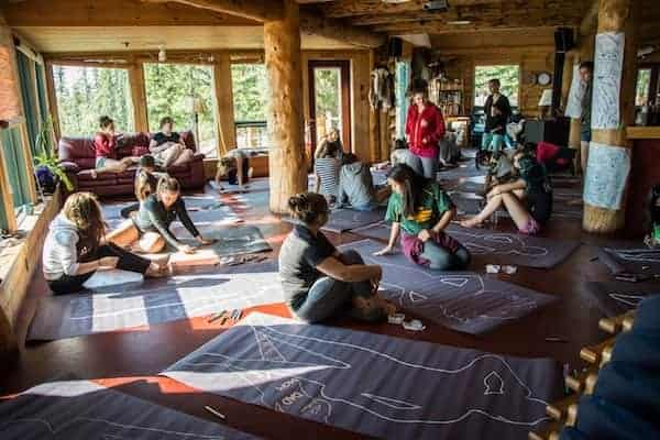 FOXY participants Body Mapping at Blachford Lake Lodge.https://arcticfoxy.com/