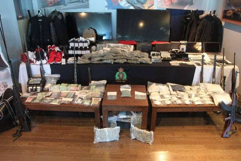 NNSL file photo RCMP showed off a haul of drugs, weapons and cash seized in Project Green Manalishi in April 2016. One of those caught up in the drug sweep, Norman Hache, has pleaded guilty to conspiracy to traffic cocaine and counselling to commit assault. He is to be sentenced on Monday