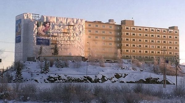 The Explorer Hotel in Yellowknife during a recent rennovation. Tourists in the city could soon pay a 4 per cent levy on accomodations. NNSL file photo.