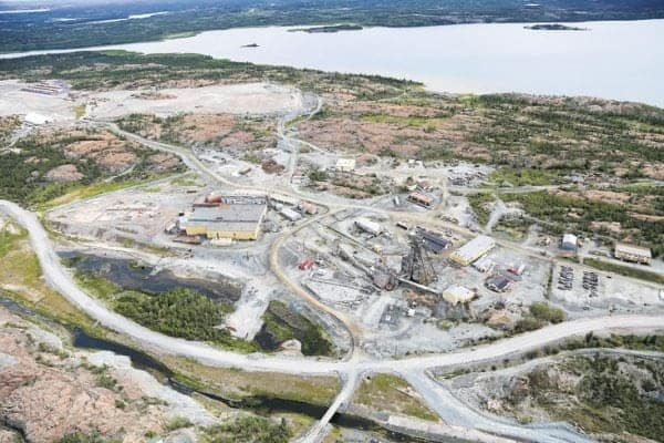 An aerial view of Giant Mine from 2015. Karen K. Ho/NNSL file photo