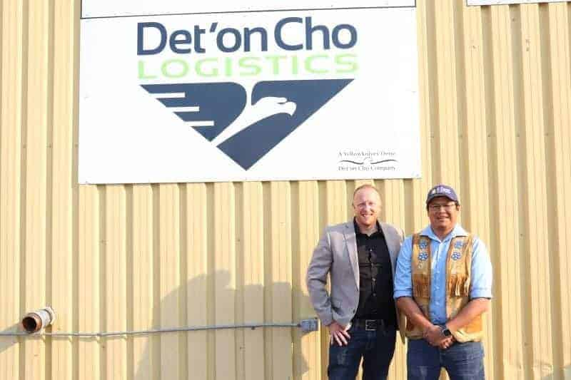 Paul Gruner, left, President and CEO of Det'on Cho and Bobby Drygeese, Chair of the Board of Directors said they're honoured the company has been awarded as having one of Canada's most admired corporate cultures. NNSL photo