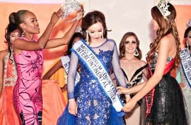 Shanti Dias of Rankin Inlet is crowned Miss Tourism Senior Teen International at the Globe Productions Miss Teen Intercontinental pageant in the Dominican Republic this past month. Photo courtesy Shanti Dias