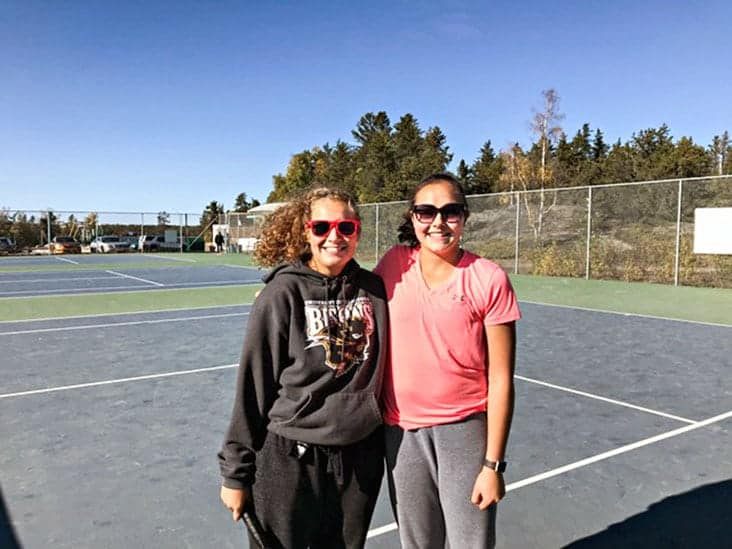 Tamara Jovic, left, and Hiro Kobayashi were the finalists in the women's singles division of the Yellowknife Tennis Club's Fall Open on Sept. 9. Jovic managed to overcome Kobayashi in straight sets for the win. photo courtesy of Tami Johnson