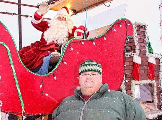 At the time of this photo from 2010, Mike Labine was one of three co-ordinators of Santa Sleigh, a Christmastime tradition in Fort Smith. NNSL file photo.