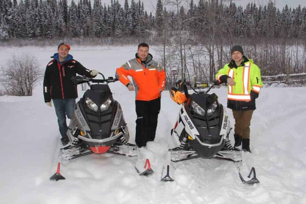 A Hay River Snowmobile Club is in the process of being created. Among the founders are, left to right, David Scheller, Darryl Buhler and Tyler Townend. Paul Bickford/NNSL photo