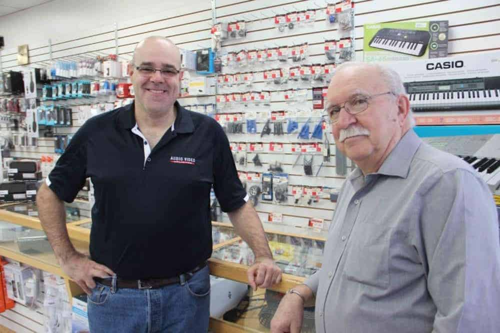 Superior Sound - a family business in Hay River - was founded 40 years ago this month. Brian Kovatch, right, was one of the founders, while his son Craig Kovatch now manages the store. Paul Bickford/NNSL photo