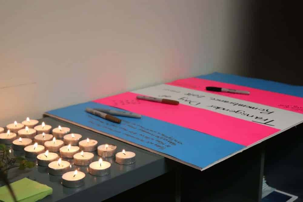 2311Trans61 Dylan Short/NNSL photo The Rainbow Coalition of Yellowknife held a candle lit vigil Tuesday to remember lives lost due to violence and transphobia. Nov. 20, 2018