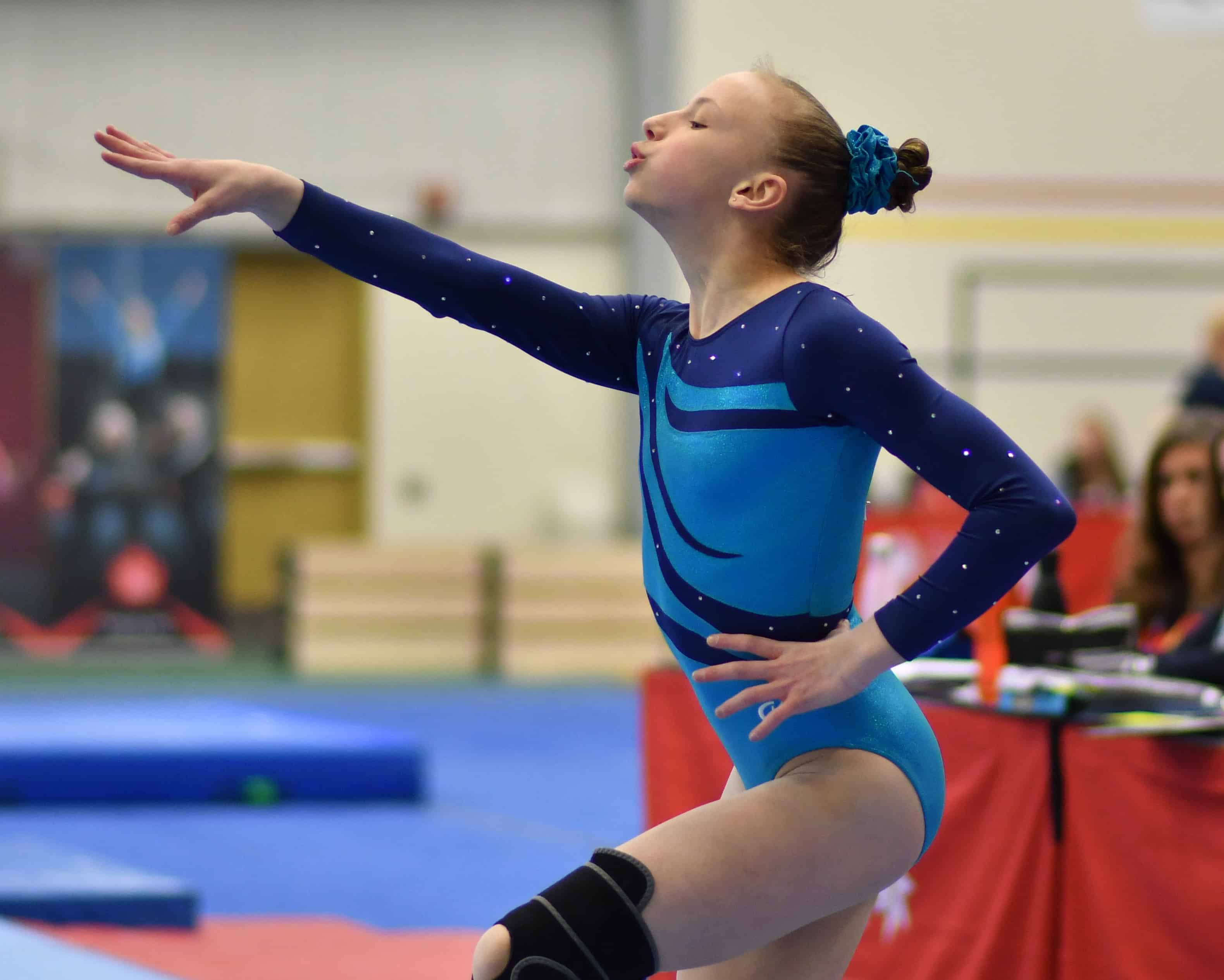 Lindsey Woodford performs her routine during the team gymnastics competition at the Canada Winter Games in Red Deer, Alta., on Sunday. Rod Ince/Canada Winter Games photo