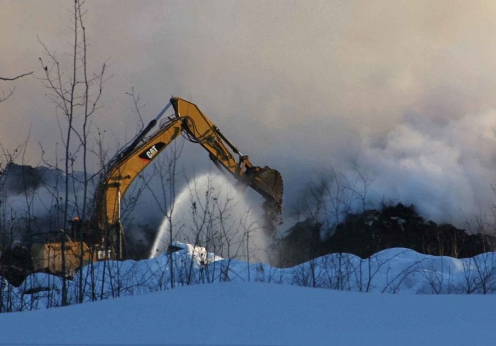 The Town of Hay River is applying to the GNWT for help to pay for fighting the recent landfill fire under its Disaster Assistance Policy. NNSL file photo