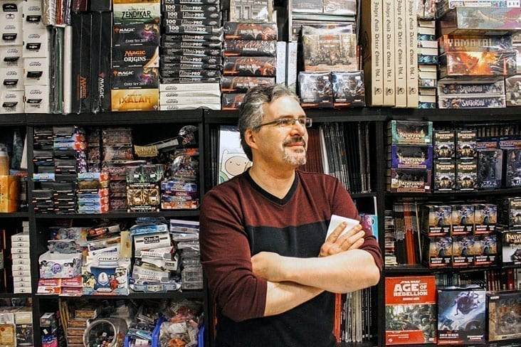 James Croizier has been the owner of Ogre's Lair for well over a decade now and has slowly amassed a large collection of games and gaming supplies which cram every corner of his shop in lower floor the Centre Square Mall. January 19, 2019 Brett McGarry/NNSL Photo