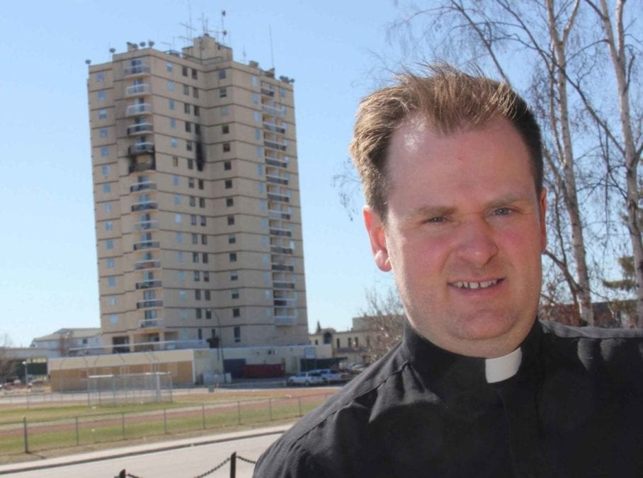 Rev. Francis Delaplain of St. Andrew's Anglican Church says a fundraising effort has basically wrapped up for people displaced by the March 15 fire at the Mackenzie Place highrise. Paul Bickford/NNSL photo