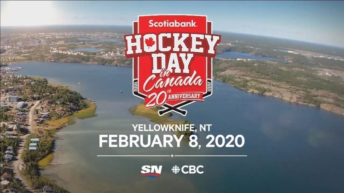 Yellowknife is confrimed to host the Scotiabank Hockey Day in Canada in 2020. Photo courtesy of Sportsnet.