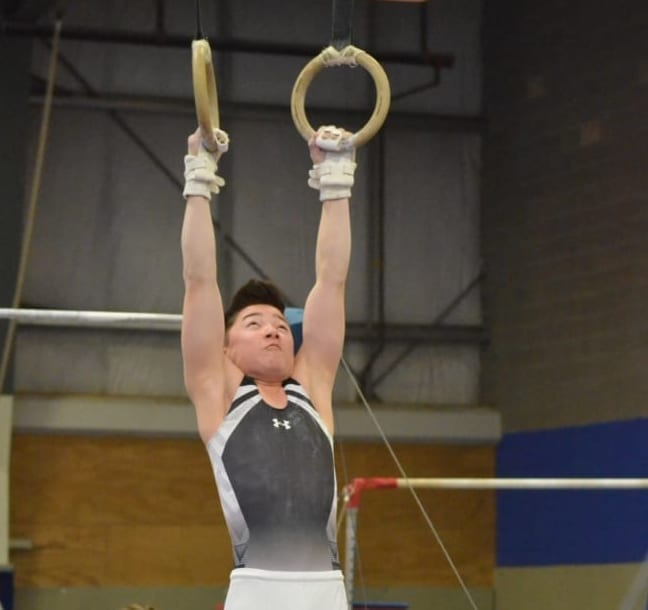 Tai Leathem, seen during the NWT Gymnastics Championships earlier this year, was one of three boys gymnasts to win seven medals at the Canmore Summit Invitational in Canmore, Alta., this past weekend. James McCarthy/NNSL photo