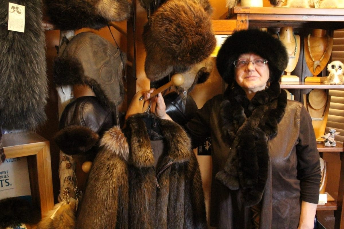 Kristine Bourque, who has spent much of her life working with furs, says she loves her work and will continue to craft after retirement. Brett McGarry / NNSL photo
