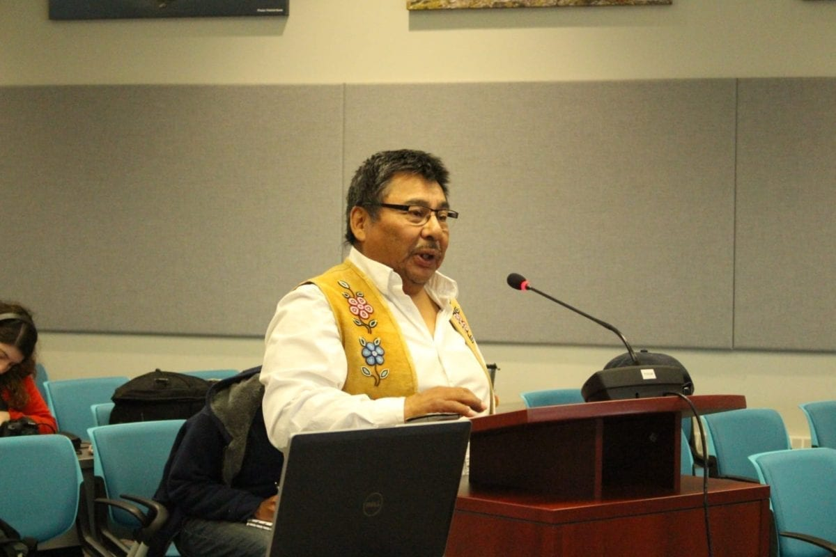 Fred Sangris, community negotiator for the Yellowknives Dene, told council the Akaitcho settlement is near complete and the Dene are ready to work with the city in planning for the future. Brett McGarry / NNSL photo