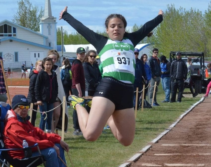 Hannah Courtoreille, seen during the NWT Track and Field Championships in Hay River last month, will be part of the track and field team heading to the Western Canada Summer Games next month. NNSL file photo