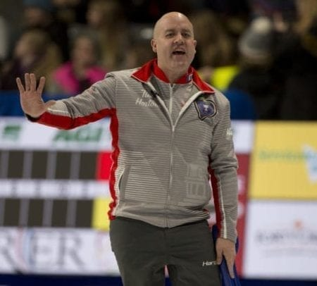 Jamie Koe, seen during the 2020 Tim Hortons Brier in Kingston, Ont., earlier this year, was part of a celebrity panel of judges for a burger-making contest organized by Doug Suerich, known as CurlingGeek on Twitter. Michael Burns/Curling Canada photo