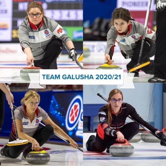 The new-look Team Galusha is ready to go, should there be a season. Clockwise from top left are Kerry Galusha, Sarah Koltun, Margot Flemming and Jo-Ann Rizzo. photo courtesy of Team Galusha