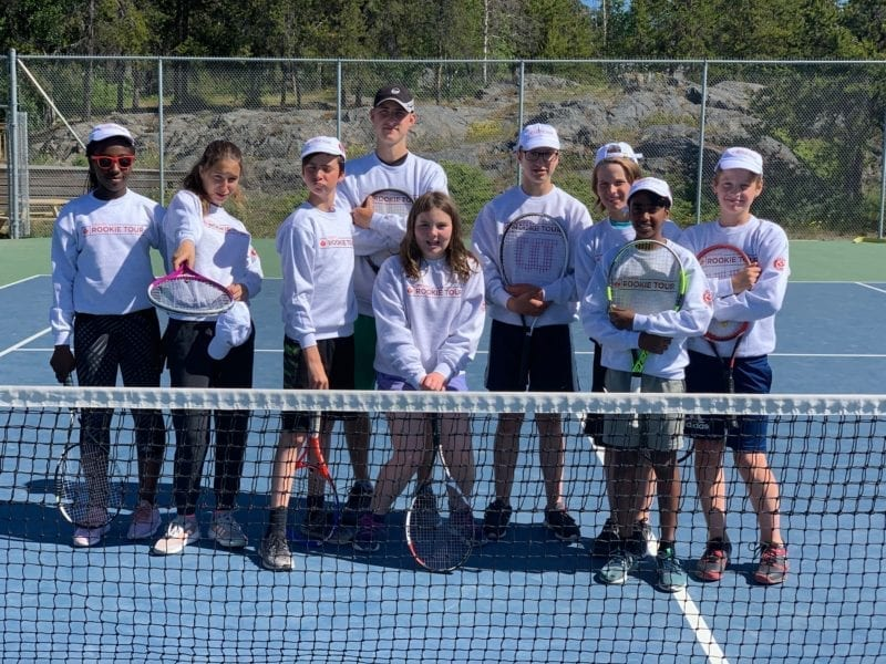 photo courtesy of Slavica Jovic Tennis NWT held its annual summer high performance camp at the Yellowknife Tennis Club in July 2019. The participants last year were, from left, Ofira Duru, Monika Kunderlik, Ben Naugler, Jan Martinek (coach), Alexana Kapraelian, Adam Naugler, Ethan Carr, Nikhilesh Gohil and Ben Carr. Whether the 2020 camp is held is all up to what Kami Kandola, the territory's chief public health officer, decides, according to Slavica Jovic of Tennis NWT.