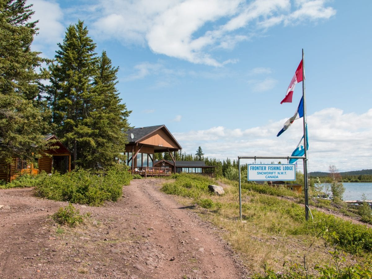 """The Lutsel K'e Den First Nation is upset after the territorial government threw up a """"bureaucratic trap"""" -- rescinding occupancy orders -- on its recently acquired Frontier fishing lodge near the community. photo courtesy of Frontier Fishing Lodge"""