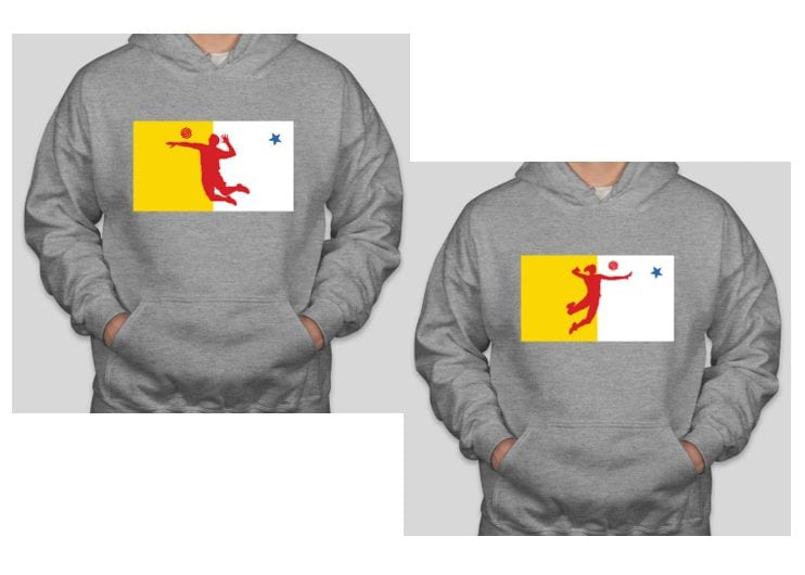 This is the special one-of-a-kind design that will adorn T-shirts and hoodies that were purchased to help raise money for Jeannie Arreak-Kullualik, a long-time member of the Volleyball Nunavut board who was diagnosed with non-Hodgkin's lymphoma last month. Volleyball Nunavut raised $10,000 through the sale of the clothing that was given to Arreak-Kullualik to help with her expenses during her battle with the disease. image courtesy of Volleyball Nunavut