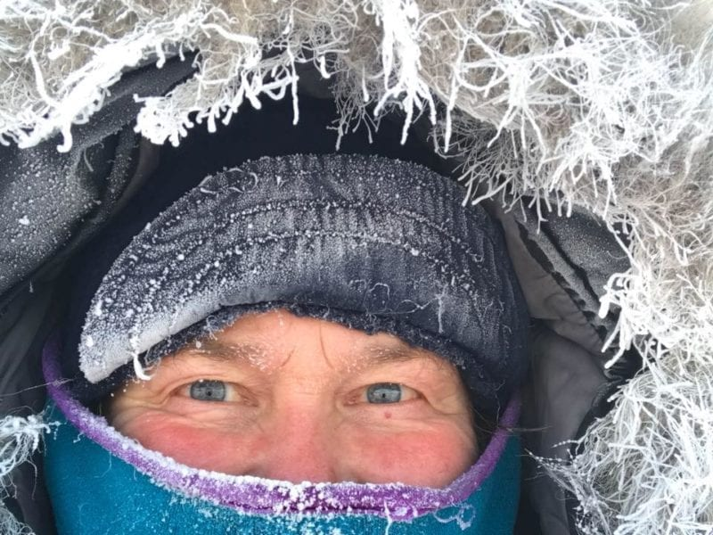 """Fran Hurcomb's newest book, Breaking Trail, recounts living on the trapline, building a cabin, and running sled dogs. She calls the North a place with """"such potential for adventure."""""""