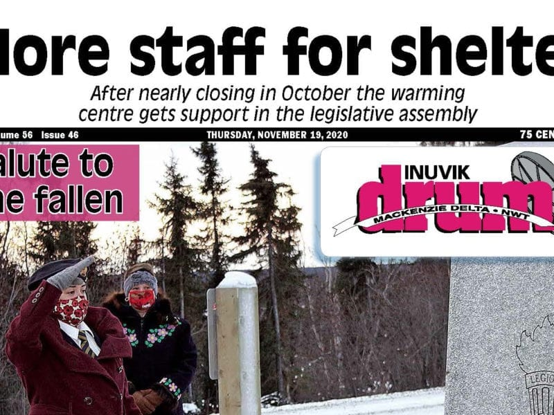 More staff for shelter, Inuvik Drum, November 19, NNSL, NWT