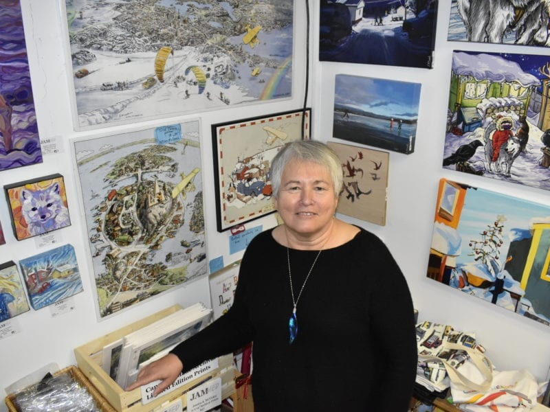 Locally-focussed shoppers gave Down to Earth Gallery its strongest November for sales in 15 years, said owner Rosalind Mercredi. Blair McBride/NNSL photo