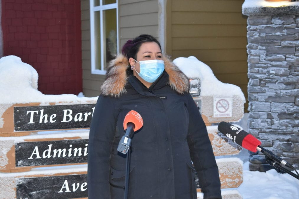 "The vaccinations have brought a ""sense of relief that the end of the pandemic is coming, said Frances Bower, director of care at AVENS Manor in Yellowknife. Blair McBride/NNSL photo"