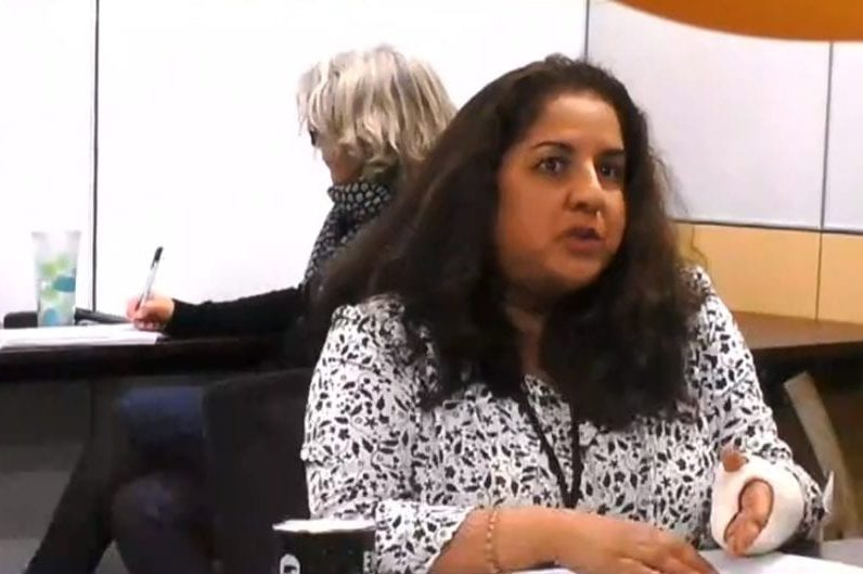 Cate Sills, left, special advisor to the deputy minister of health and social services, and chief public health officer Dr. Kami Kandola appear before the Standing Committee on Accountability and Oversight on Wednesday to speak about the Covid-19 vaccine rollout. Kandola said travel restrictions might not be lifted until near the end of 2021, depending on the progress of Covid-19 vaccinations across Canada. GNWT image
