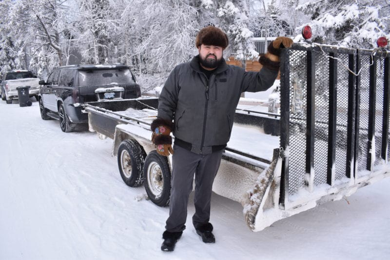 """I feel like Santa Claus with a trailer full of goods,"" said Dumaresq Valpy, owner of Drumbeat Expediting on his business transporting items to people in communities along the highways of NWT and Alberta. Blair McBride/NNSL photo"