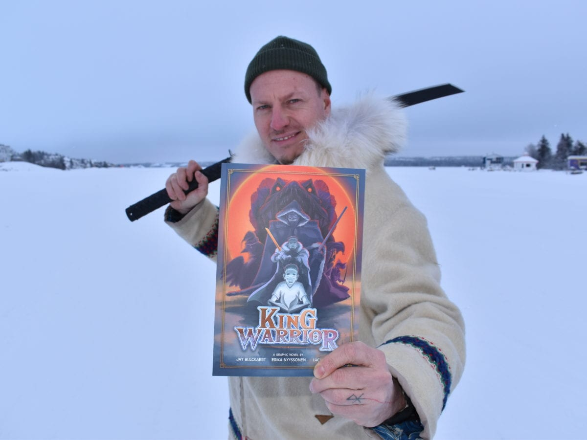 The new graphic novel King Warrior highlights the heritage and experiences of Yellowknife's multicultural community, says Jay Bulckaert, who co-authored the book with his wife Erika Nyyssonen. Blair McBride/NNSL photo