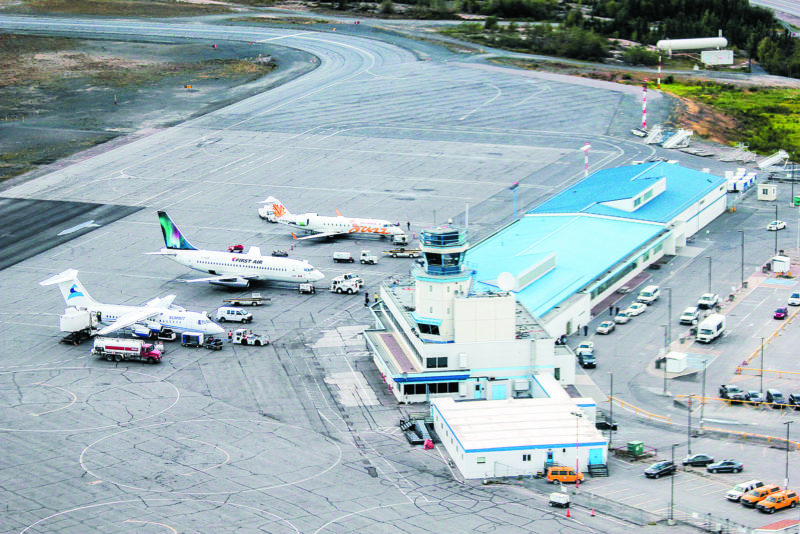 Yellowknife Airport will lose a major passenger carrier when Air Canada is suspends all service to and from Yellowknife effective Jan. 23, 2021. Shane Magee/NNSL photo Yellowknife - July 11, 2014 -
