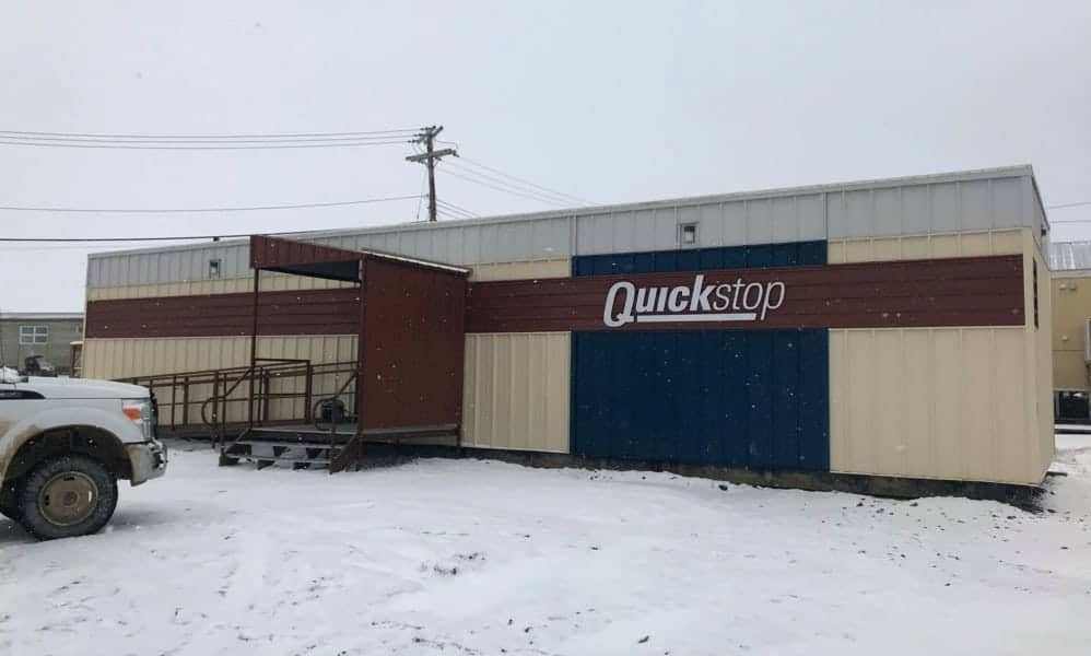 This ATCO trailer in Iglulik is the new model for the North West Company's QuickStop convenience stores. It was the first one scheduled to be in business, as of Sept. 29. In the coming weeks, the North West Company also plans to open convenience stores in Pond Inlet, Naujaat, Gjoa Haven and Cape Dorset. The retailer has also purchased the Kitnuna Pharmacy in Cambridge Bay from the Kitikmeot Corporation. photo courtesy of the North West Company