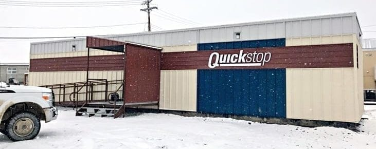 This ATCO trailer in Iglulik is the new model for the North West Company's QuickStop convenience stores. It was the first one scheduled to be in business, as of Sept. 29. In the coming weeks, the North West Company also plans to open convenience stores in Pond Inlet, Naujaat, Gjoa Haven and Cape Dorset. The retailer has also purchased the Kitnuna Pharmacy in Cambridge Bay from the Kitikmeot Corporation. Photo courtesy of the North West Company.