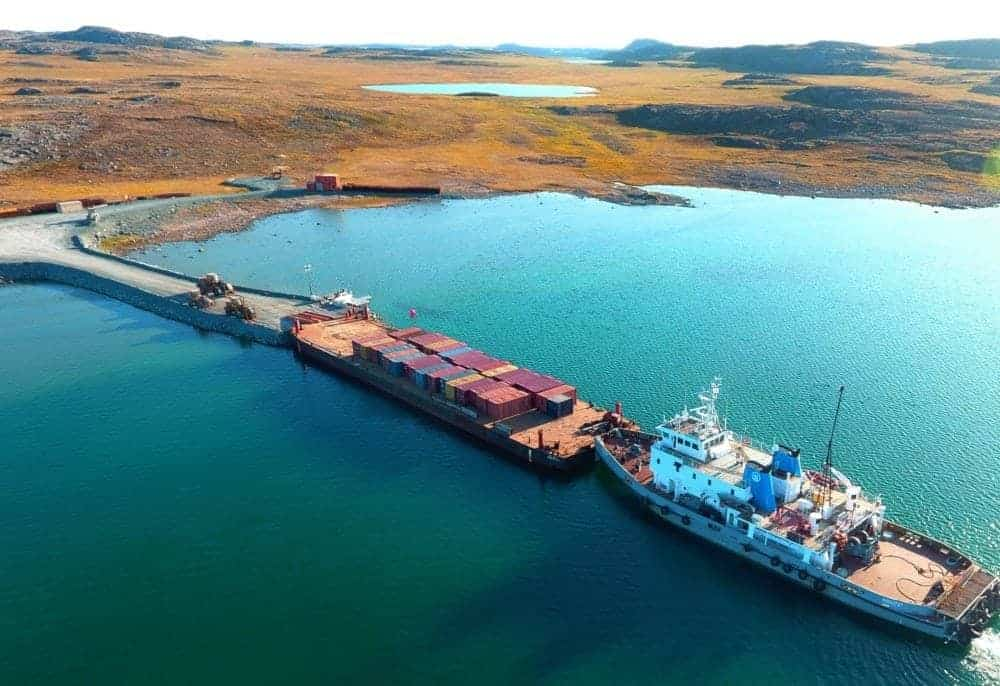 The recent buildup of ice in Kitikmeot waters has made conditions much more challenging for the GNWT's Marine Transportation Services division than when this photo was taken in September 2017. The last barge of the season is unable to get into Kugluktuk or Cambridge Bay, causing a huge headache for businesses, municipal governments and residents who are relying on the delivery of those supplies. photo courtesy of the GNWT