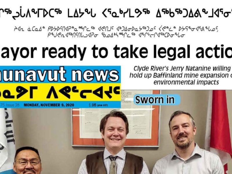 Mayor ready to take legal action, Nunavut News, November 9, 2020, Nunavut, NNSL